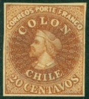 CHILE 1910 20c BROWN DR. HUGO HAHN REPRINT - Chile
