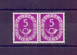 Bund 1951 - 5Pf. Posthorn Postfrisch** Im Waagerech. Paar - Michel 45,00 € (321) - Used Stamps
