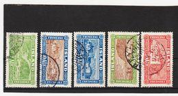 MAG1410  ISLAND 1925  Michl 114/18 Used / Gestempelt  ZÄHNUNG Siehe ABBILDUNG - 1918-1944 Unabhängige Verwaltung