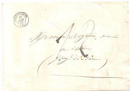 3871 ARDES Sur COUZE Puy De Dôme Lettre 3° échelon 12 Décimes Manuscrit Tf 1 7 1854 Ob 27 6 1859 Type 15  Arriv Issoire - Marcophilie (Lettres)