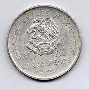 Messico - 1952 - 5 Pesos - Argento - Vedi Foto - (MW326) - Messico