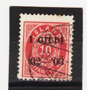 MAG1428  ISLAND 1902  Michl 28 Used / Gestempelt  ZÄHNUNG Siehe ABBILDUNG - 1918-1944 Unabhängige Verwaltung