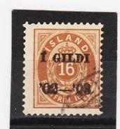 MAG1429  ISLAND 1902  Michl 29 Used / Gestempelt  ZÄHNUNG Siehe ABBILDUNG - 1918-1944 Unabhängige Verwaltung