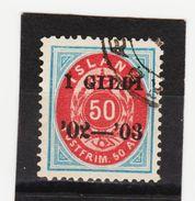 MAG1435  ISLAND 1902  Michl 33 B Used / Gestempelt  ZÄHNUNG Siehe ABBILDUNG - 1918-1944 Unabhängige Verwaltung