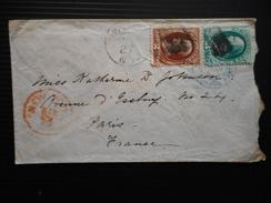 BRIEF NR 40-41 VIA NEW YORK >PARIS 10-4-1876 - 1847-99 Unionsausgaben