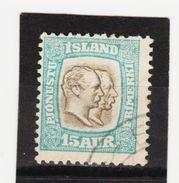 MAG1439  ISLAND 1907  Michl 28 DIENST Used / Gestempelt  ZÄHNUNG Siehe ABBILDUNG - Dienstpost