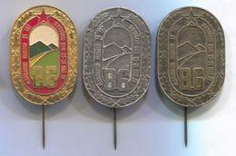 Alpinism, Mountaineering, Climbing - FRUSKA GORA, Vojvodina Serbia, Marathon, Vintage Pin, Big Badge, Abzeichen, 3 Pcs. - Alpinism, Mountaineering
