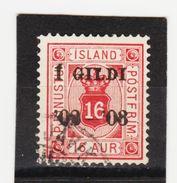 MAG1446  ISLAND 1902  Michl 14  DIENST Used / Gestempelt  ZÄHNUNG Siehe ABBILDUNG - Dienstpost