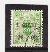MAG1449  ISLAND 1902  Michl 15 B  DIENST Used / Gestempelt  ZÄHNUNG Siehe ABBILDUNG - Dienstpost
