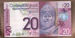 ESCOCIA - SCOTLAND 20 POUNDS 2013 - 1 Pound