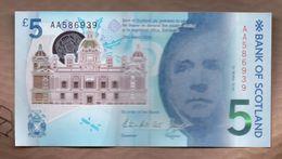ESCOCIA - SCOTLAND 5 POUNDS 2016 - 1 Pound