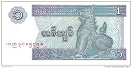 Myanmar - Pick 69 - 1 Kyat 1996 - Unc - Myanmar