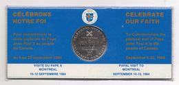 Canada - 1984 - Medaglia Visita Di Papa Giovanni Paolo II° In Canada - (FDC5543) - Gettoni E Medaglie