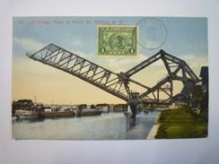 BUFFALO  :  LIFT BRIDGE  ,  Foot Of Ferry Street  -  Carte Couleur   1916   XXX - Buffalo