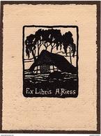 EX LIBRIS A. RIESS - Bookplates