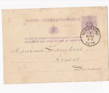 BEAURAING CARTE DE CORRESPONDANCE RARE 1878 - Beauraing