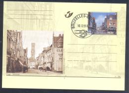 Belgium 2001 Postal Stationery Card: Tourism Architecture; Brugge - Steensraat - Vacances & Tourisme