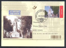 Belgium 2002 Air Mail Priority Postal Stationery Card: Tourism Architecture; Mol - De Markt; Church Kirche Iglesa - Ferien & Tourismus