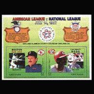 GRENADA 1987 - Scott# 1552 S/S Baseball MNH - Grenada (1974-...)