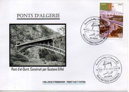 Algérie FDC Pont El Ourit Tlemcen Construit Par Gustave Eiffel - Algerien Bridge - Brücken