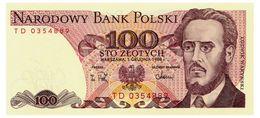 POLAND 100 ZLOTYCH 1988 Pick 143e Unc - Poland