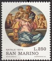 "956 San Marino 1975 ""La Sacra Famiglia (Tondo Doni)"" Quadro Dipinto Michelangelo Buonarotti Paintings MNH - Quadri"