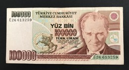 TURQUIE - Billet De 100.000  - 1970 - N°E26613259 - Turchia