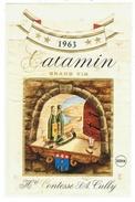 Rare // Etiquette // Calamin 1963, Henri Contesse SA Cully,Vaud // Suisse - Etiquettes
