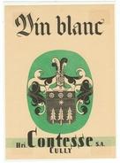 Rare // Etiquette // Vin Blanc, Henri Contesse SA Cully,Vaud // Suisse - Etiquettes