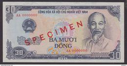 VIETNAM  SPECIMEN 30dong  1985 PICK N° 95  VF/XF  N°AA 0000000 - Vietnam