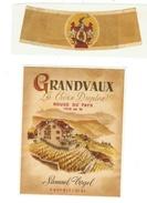 Rare // Etiquette // Grandvaux Rouge Du Pays 1948 Sur Lie, Samuel Vogel, Grandvaux, Vaud // Suisse - Etiquettes