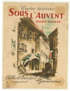 Rare // Etiquette //  Pinot-Gamay Sous L'Auvent Grandvaux, Albert Parisod, Grandvaux, Vaud // Suisse - Etiquettes