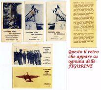 210> CROCIERA AEREA DEL DECENNALE Rarissime Figurine Perugina - Fascio Fascismo Duce - 1934 - Documenti Storici