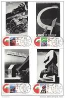 HUNGARY - 1975.Maximum Card 4Pcs - Hungary´s Liberation From Fascism / Posters Mi:3026-3029. - Cartoline Maximum