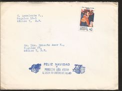 A) 1969 MEXICO, GRAL IGNACIO ALLENDE, CONMEMORATIVE STAMP, GOOD CHRISTMAS WISHES, LETTER INSIDE, CIRCULATED COVER IN MEX - Mexico