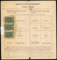 USA 1918 Goverment Thrift Card Davenport Nebraska With Some Stamps Inside 1923 - Vereinigte Staaten