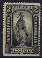 USA Newspaper Stamp PR 57 MH/* Falz/ Charniere Has A Pin Hole - Zeitungsmarken & Streifbänder