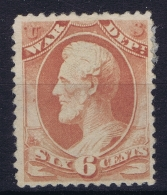 USA 1873 Official, War Dep. Sc O86 Noy Used (*) SG - Officials