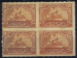 USA RB 31 In 4-block  Not Used (*) SG  Propietary Stamps - Duck Stamps