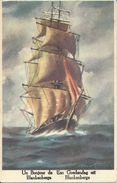 Blankenberghe    Un Bonjour De Blankenberge.   -   1955  Naar   Berchem  -   Schip - Blankenberge