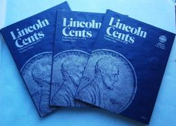 US 1909-1989 Lincoln Cents Collection In (3) Whitman Albums - Collections