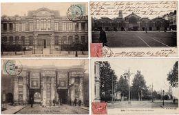 LOT De 4 Cpa - LILLE - 59 - Halles Centrales - Palais Rameau - Faculté Médecine Pharmacie - Porte De Tournai - Lille