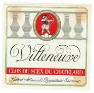 Rare // Etiquette // Villeneuve , Clos Du Scex Du Chatelard, Gilbert Allaman, Villeneuve Vaud // Suisse - Etiquettes
