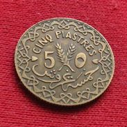 Syria 5 Piastres 1935 KM# 70 *V1 Siria Syrie - Syrie