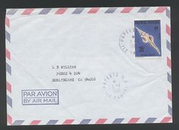 A4918) Franz Polynesien Brief 1981 Nach US Marke Shell Muschel - France (former Colonies & Protectorates)
