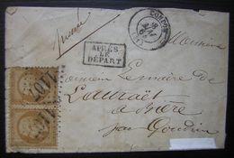 1864 Condom (Gers) GC 1107 Sur Paire, Après Le Départ - Postmark Collection (Covers)