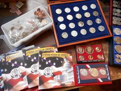 DEPART 1 EURO ! JOLIE COLLECTION U.S.A (20eme SIECLE) DONT ARGENT(435 GRAMMES BRUT)+COURSABLE !!! - United States