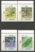 Canada - 1988 Winter Olympics Set Of 4 MNH **        Sc 1196a-8 - 1952-.... Reign Of Elizabeth II