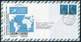 1969 South Africa Johannesburg - Rio De Janeiro - New York, SAL SAA First Flight Cover - Airmail