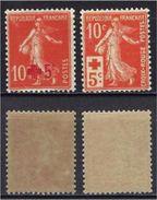"FR YT 146 Et 147 "" Croix-Rouge "" 1914 Neuf**/* - France"